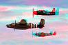 3543 Heritage Flight B25 Spitfire Bearcat Anaglyph