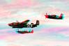 3538 Heritage Flight B25 Spitfire Bearcat Anaglyph